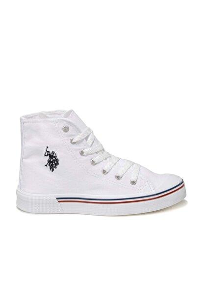US Polo Assn PENELOPE HIGH 1FX Beyaz Kadın Havuz Taban Sneaker 100910633