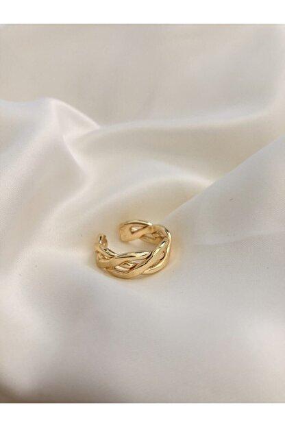 The Y Jewelry Ayarlanabilir Örgü Yüzük