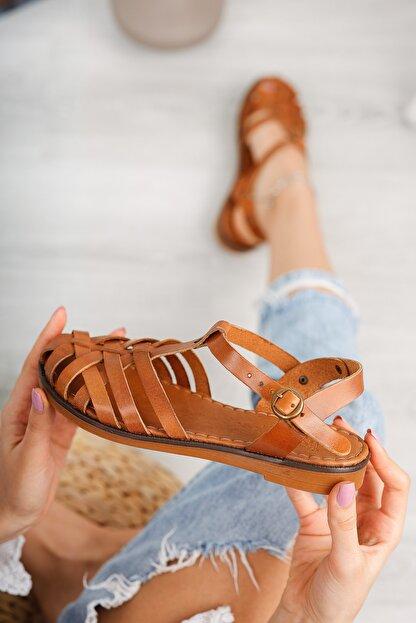 Muggo Infw313 Hakiki Deri Kadın Sandalet