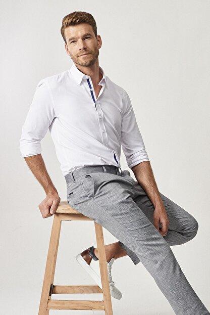 Altınyıldız Classics Erkek Lacivert Slim Fit Casual Pantolon