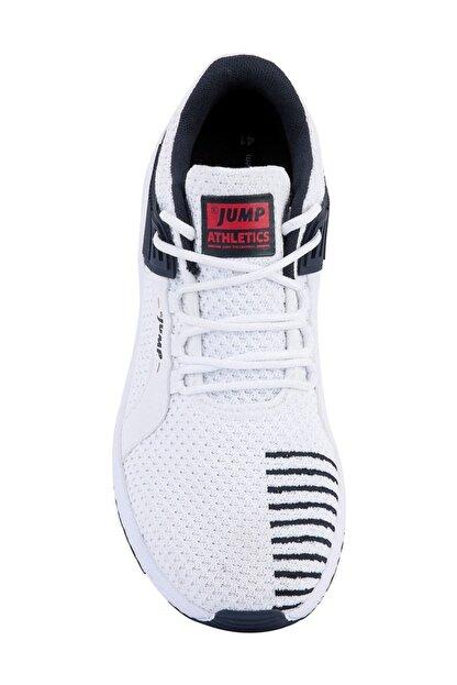 Jump Erkek Beyaz Günlük Yürüyüş Rahat Taban Spor Ayakkabı 24909