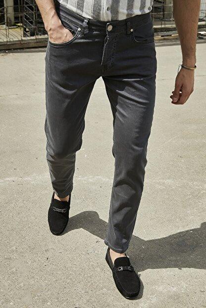 Sateen Men Erkek Antrasit Yıkamalı Pamuk Pantolon