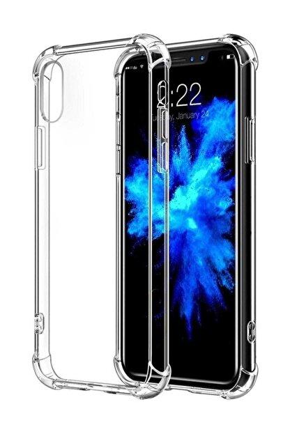 Telefon Aksesuarları X - XS Ultra İnce Şeffaf Airbag Anti Şok Silikon Kılıf Şeffaf