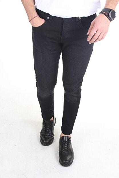 TREND YAŞAR Erkek Füme Düz Slim-fit Likralı Dar Paça Kot Pantolon