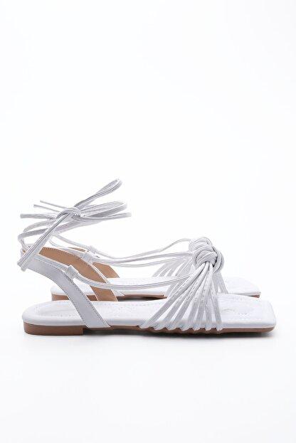 Marjin Kadın Beyaz İpli Sandalet