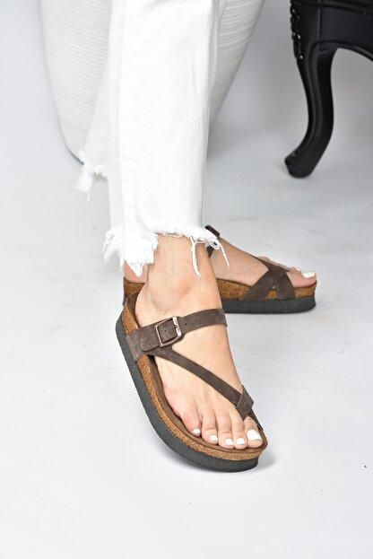 Fox Shoes Kadın  Kahverengi Süet Terlik B777753002