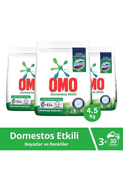 Omo Domestos Etkili Toz Çamaşır Deterjanı 30 Yıkama  4.5 KG  x 3 Adet