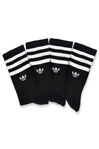 Pofudy Socks Siyah Atletik Çoraplar 4'lü