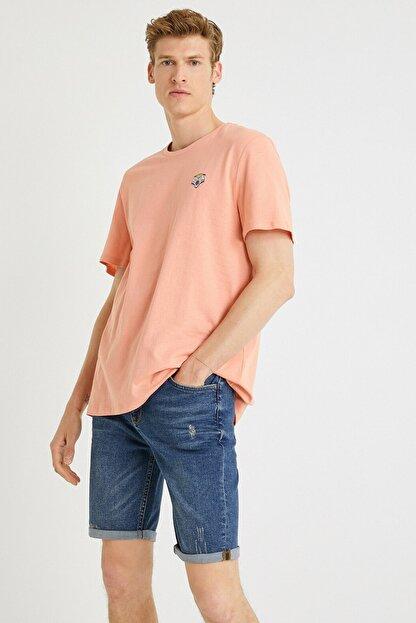 Koton Erkek Mercan T-Shirt 1YAM11591HK