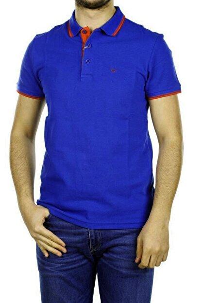 Cazador Erkek Civit Mavisi Polo Yaka T-shirt