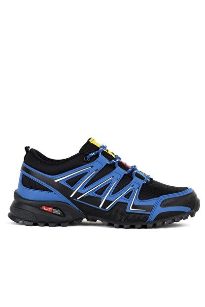 Ayakkabix Erkek Çocuk Siyah Mavi Ferrani Günlük Spor Ayakkabı