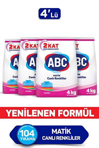 ABC Matik Canlı Renkliler 4 Kg 4'lü Set