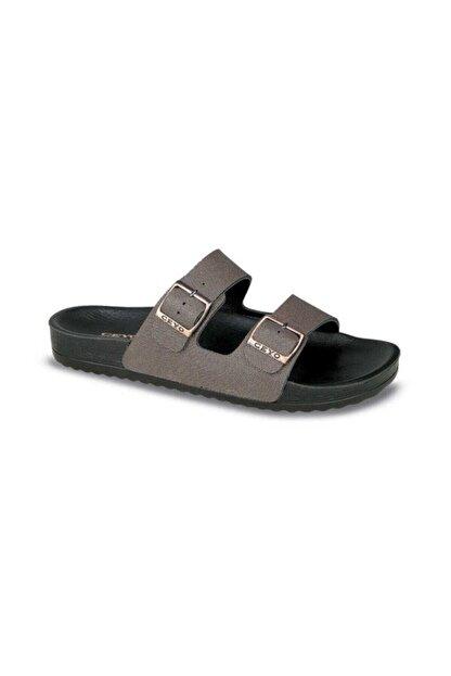 Ceyo Bahama-11 Kadın Terlik Ayakkabı 02344bakır