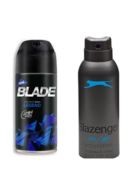 Blade Erkek Deodorant Alana Slazenger Actıves Sport Mavi 50 ml Deodorant Hediye