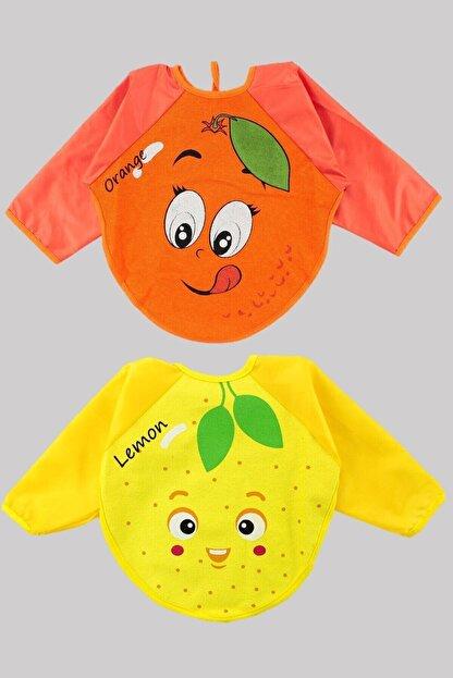 Babydonat 2 Adet Mevye Desenli Giyilebilen Bebek Önlüğü