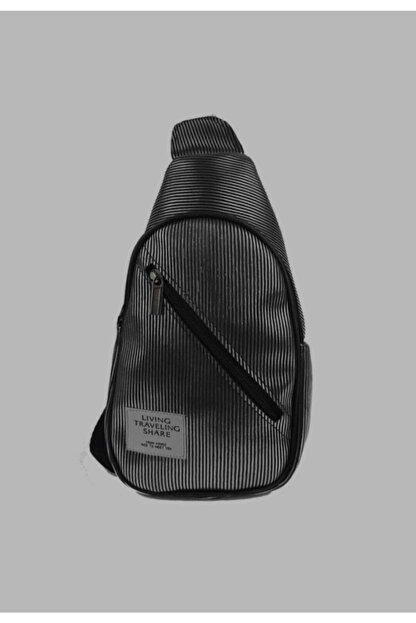 mislina moda Siyah Tırtık Desen 2 Cepli Omuz Çanta