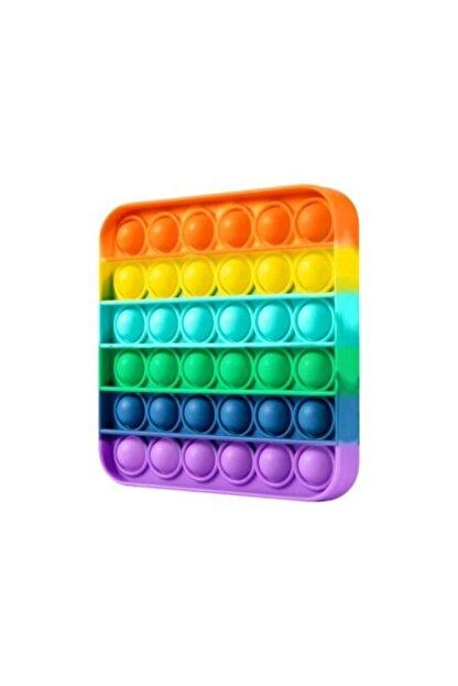 Sisbro Toys Bubble Pop, Pop It, Push Bubble, Fidget, Özel Duyusal Stressiz Oyuncak Kare Gökkuşağı