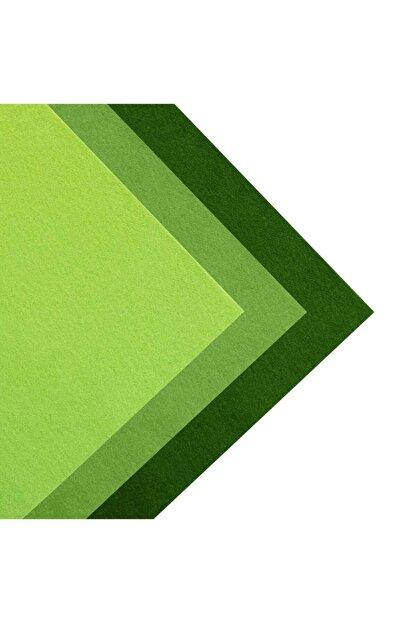 toptankece Kalın Keçe 50x50 Cm Yeşil Tonlar 3 Renk