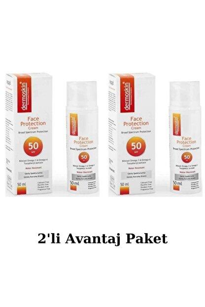 Dermoskin Face Protection Spf 50 Plus 50 Ml Güneş Kremi 2'li Avantaj Paket