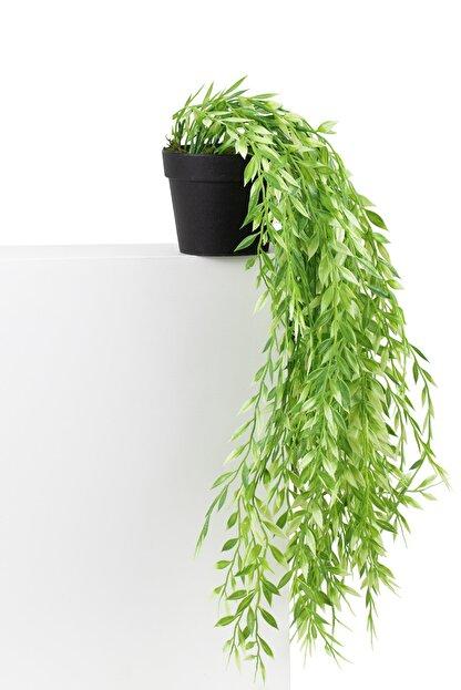 çiçekmisin Mini Siyah Plastik Saksıda Sarkan Yapay Yeşillik