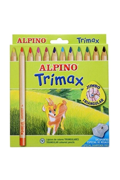 Alpino Zuzuba Trimax Jumbo Kuru Boya Kalemi 000113 12'li