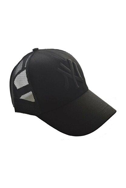 Orçun Özkarlıklı Unisex Fileli Siyah Kep Şapka Siyah Logo