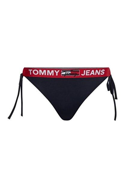 Tommy Hilfiger Kadın Mavi Bikini Altı CHEEKY STRING SIDE TIE BIKINI UW0UW02944