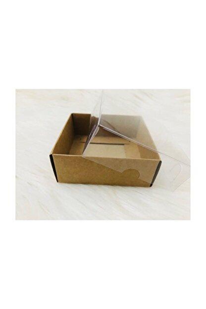 Aj Kraft Asetat Kapaklı Kutu 8x8x3 cm (50 Adet)