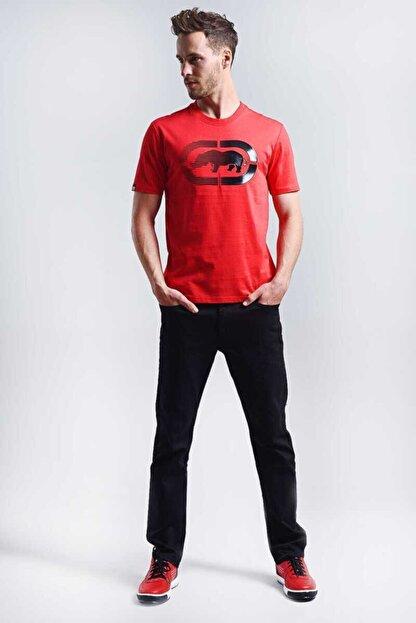 Ecko Unltd Logo Tee 2 Kırmızı Erkek Baskılı Bisiklet Yaka T-shirt
