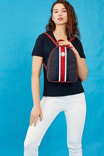 US Polo Assn Lacıvert-kırmızı Kadın Sırt Çantası Us8221