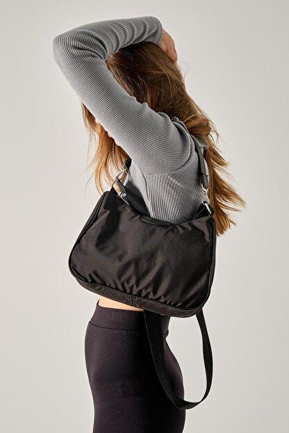 Shule Bags Kadın Siyah Katrine Paraşüt Kumaş Kol Çantası