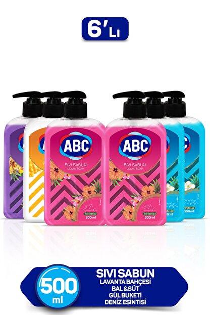 ABC Karma Sıvı Sabun Seti 1x Bal-Süt + 1x Lavanta + 2 x Deniz + 2 x gül