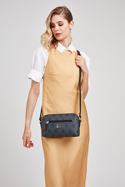 US Polo Assn Sıyah Kadın Postacı Çantası Us8127