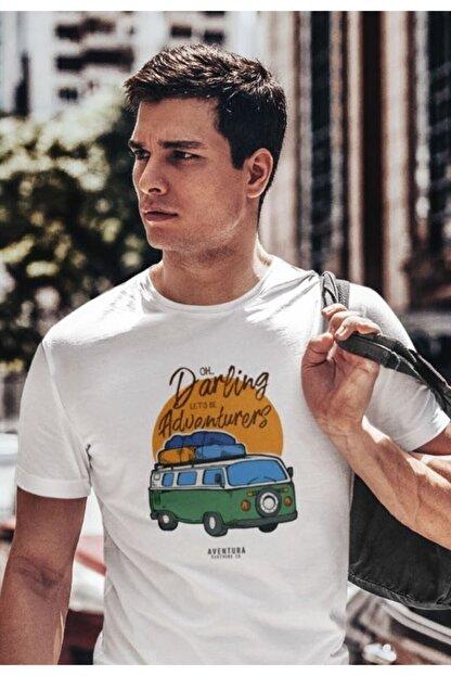 Aventura Clothing Co %100 Pamuk, Regular Fit, Bisiklet Yaka, Baskılı Tshirt - Good Vibes Only 4