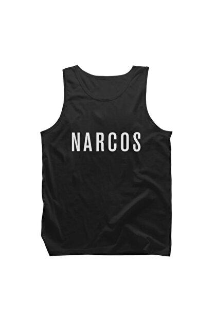 Fandomya Narcos Siyah Askılı Tişört Atlet - ST153NCS1150