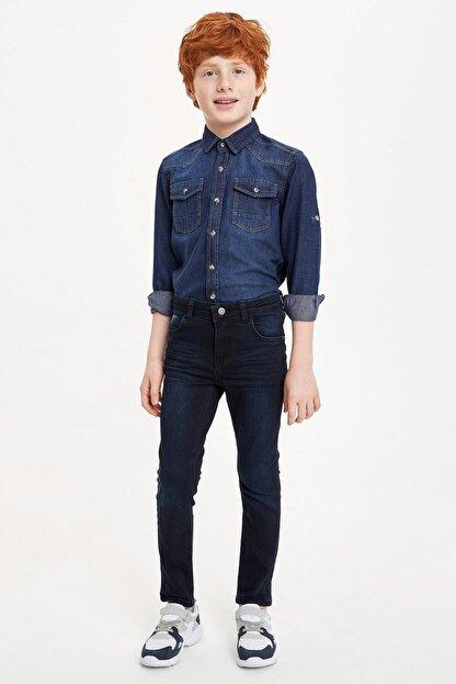 Defacto Erkek Çocuk Çivit Mavisi Kot Jeans
