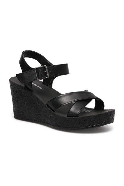 Polaris 317257.Z 1FX Siyah Kadın Dolgu Topuklu Sandalet 101024851