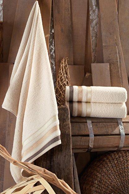 Binnur Home Natural 2 Adet 70x140 Cm Antibakteriyel Banyo Havlu Seti