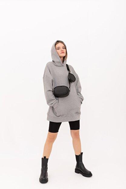 Shule Bags Saten Kumaş Cüzdanlı Çapraz Çanta Diagon Siyah
