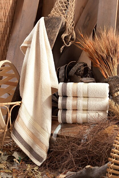 Binnur Home Natural Antibakteriyel El ve Yüz Havlusu 50x90 cm 4'lü