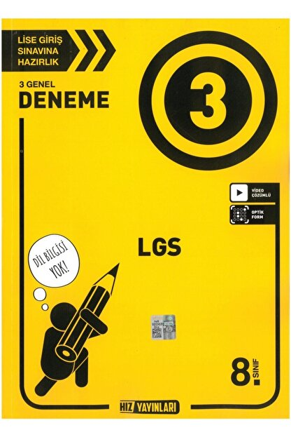 Hız Yayınları -dilbilgisi Yok- Hız 8.sınıf Tüm Dersler 3 Deneme Sınavı