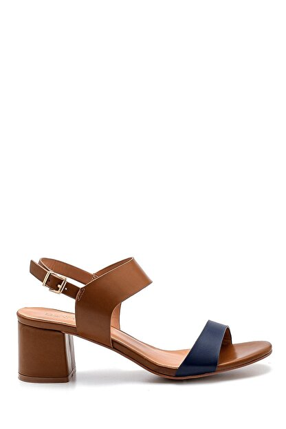 Derimod Kadın Kahverengi Topuklu Sandalet