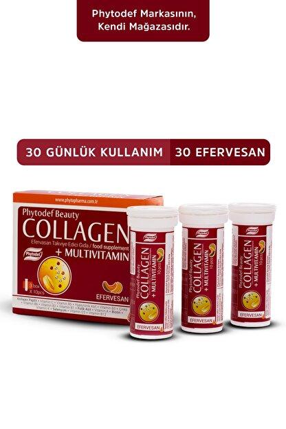 Phytodef Collagen + Multivitamin - 30 Efervesan Tablet (kavun Ve Muz Aromalı)