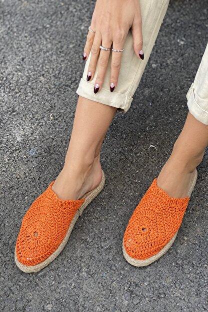 İnan Ayakkabı DANTEL DETAYLI HASIR TERLİK