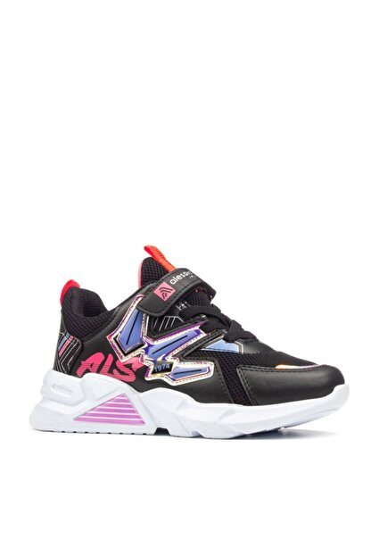 Alessio Kız Çocuk Siyah Günlük Spor Ayakkabı
