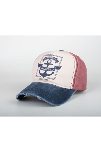 DMONA Maritime Unısex Orjınal Denizci Çapa Eskitme Şapka Kep 2021