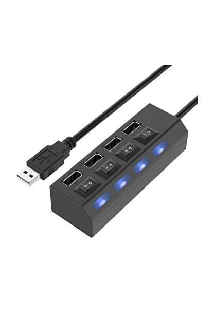 zabata 4 Port Usb Hub 2.0 Çoklayıcı Anahtarlı Işıklı Çoğaltıcı