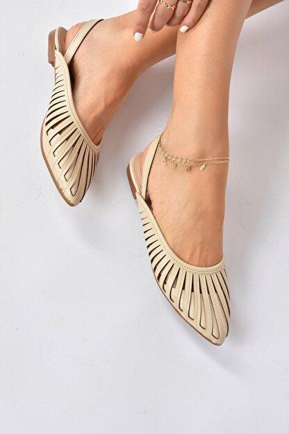 Fox Shoes Kadın Bej Babet K294850109