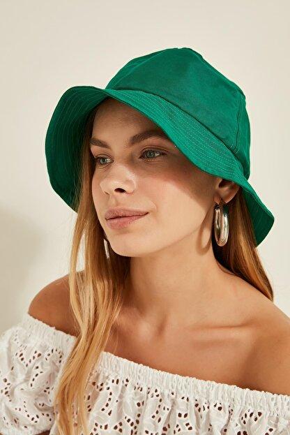 Y-London 13372 Yeşil Buket Şapka