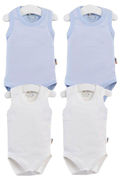Pattaya Kids Erkek Bebek Çıtçıtlı Kolsuz Body 0-36 Ay Ptk20s-406